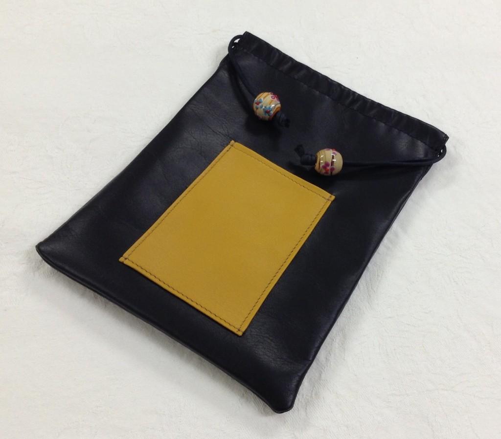受注品の巾着。きょう完成! お客さまはバッグ・イン・バッグにご使用とのことでした。